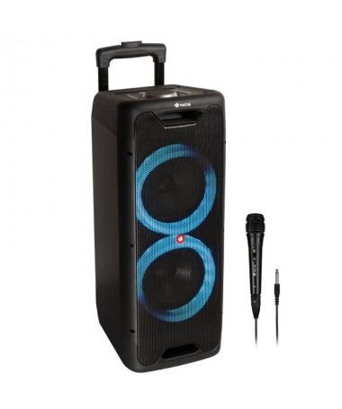 pPotente altavoz portatil compatible con tecnologia Bluetooth 50 y TWS equipado con doble subwoofer de 88221 y 300W de potencia
