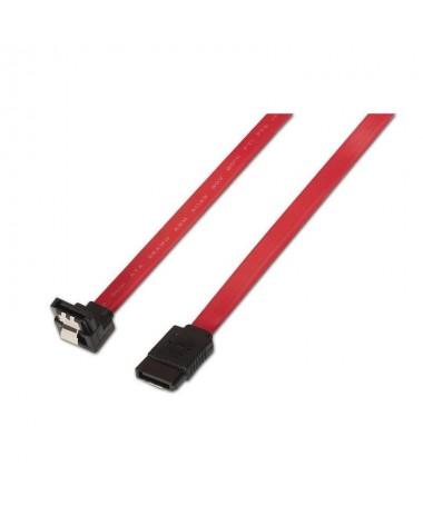 pul liCable SATA datos con anclajes para una conexion segura y acodado en un extremo para disco duro u otro dispositivo con int