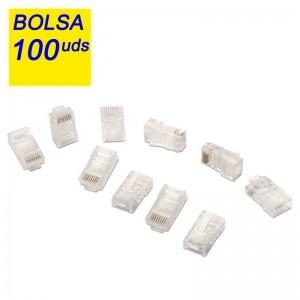 pul liConector para cable red CAT5e RJ45 UTP 8 contactos li liBolsa 100 unidades li liLongitud N A li liColor N A li liNormativ