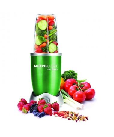 pNutribullet 500 w es el extractor de nutrientes original con el que podras hacer batidos saludables de frutas y verduras Puede