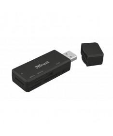 PLector de tarjetas compactas USB 32 Gen1BR PULLIVeloz lector de tarjetas de memoria USB 32 con elegante diseno en negro y tapa