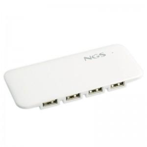 Multiplique las conexiones de su ordenador con este practico hub USB 20 de NGS Por su reducido tamano y extraordinaria ligereza
