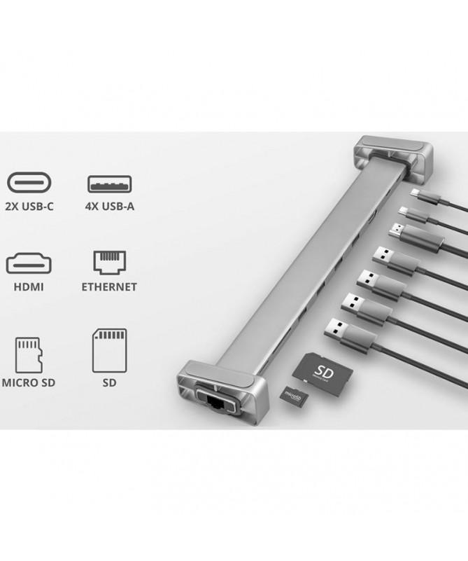 ph2Mejora del flujo de trabajo h2Con la estacion de acoplamiento multipuerto Dalyx USB C 10 en 1 de Trust realmente se puede sa