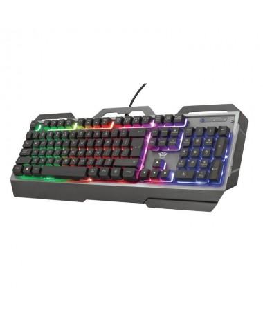 pTeclado para gaming con placa superior metalica e iluminacion multicolorbrh2Teclado para gaming listo para la accion h2Concebi