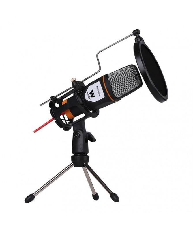 pWoxter Mic Studio es un microfono de condensacion ideal para grabar conversar o cantar por internet para jugar online o para v