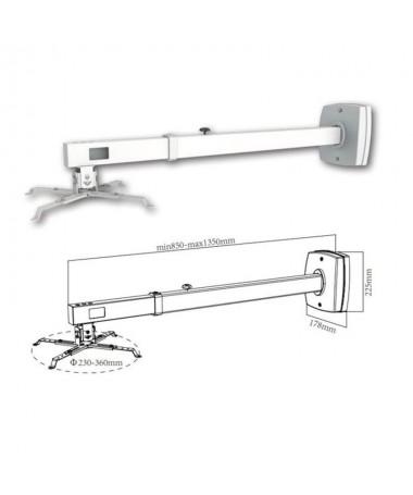pSoporte extensible de montaje en pared para proyectores de corto alcance max 10KgbrEste soporte le permite un posicionamiento