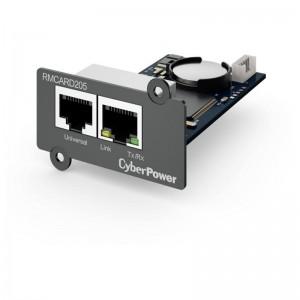 pCyberPower RMCARD205 proporciona supervision y administracion completas del SAI lo que incluye lecturas de temperatura y humed