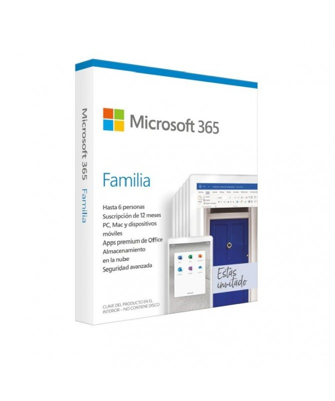 ULLIH2Microsoft 365 Family 6 usuarios 1 ano de suscripcion Multidispositivo H2 LILISuscripcion anual para 6 PCs o Macs 6 tablet