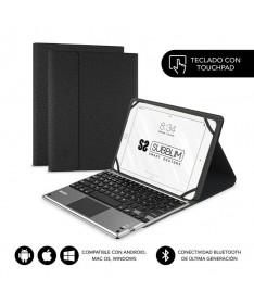 pul liTeclado Bluetooth extraible con funda para Tablet de hasta 101 li liIncorpora panel Touchpad que lo convierte en una esta