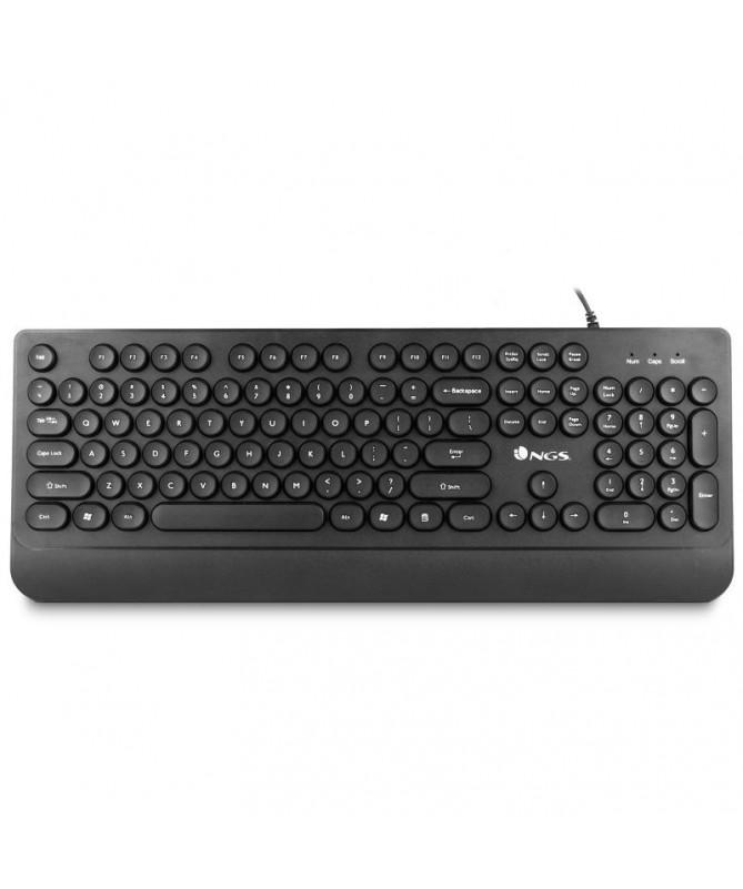 pNGS Dot es un teclado con conexion USB que cuenta con unas originales teclas circulares dotandolo de gran personalidadbrbrul l