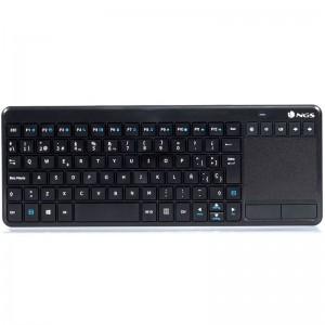 pTeclado inalambrico de 24 GHz con touchpad perfecto para controlar facilmente tu portatil conectado al televisor o navegar por
