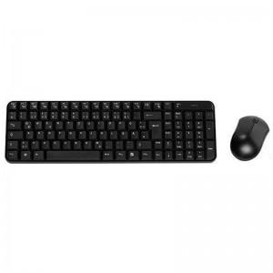 pul liSet compuesto por teclado y raton inalambricos negro li liTecnologia de 24 GHz li liEscritura silenciosa li liConexion US
