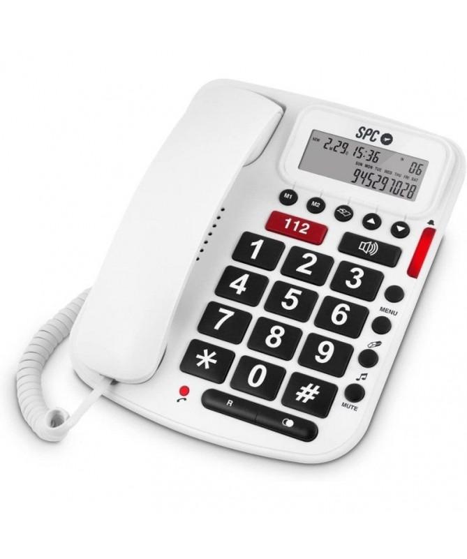 PEl telefono SPCtelecom 3293 es un telefono bipieza especial EMERGENCIA que se caracteriza por su tecla de emergencia de color