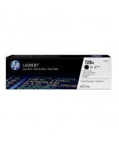 Doble paquete de cartuchos de toner negro HP 128A LaserJetpara que imprima mas y ahorre mas Obtenga una calidadde impresion pro