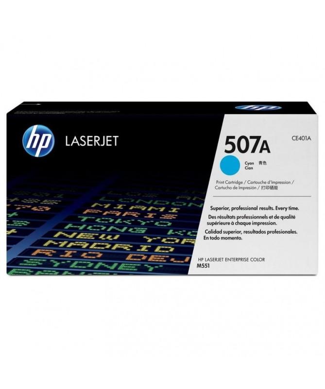 El cartucho de toner cian HP 507A para LaserJet mantiene laproductividad empresarial alta Evite las complicaciones y losgastos