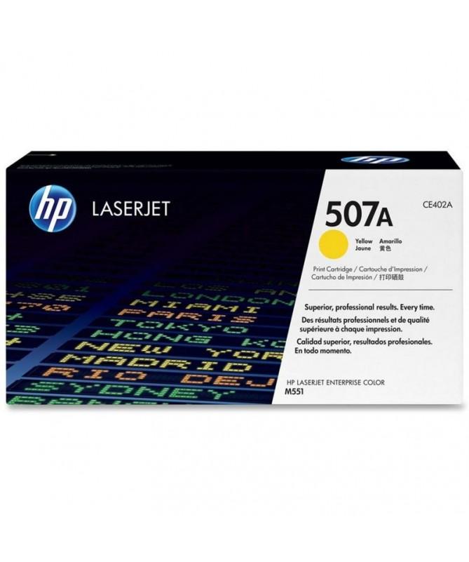 El cartucho de toner amarillo HP 507A para LaserJet mantienela productividad empresarial alta Evite las complicaciones y losgas