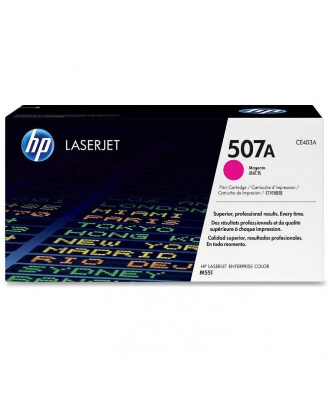El cartucho de toner magenta HP 507A para LaserJet mantienela productividad empresarial alta Evite las complicaciones y losgast