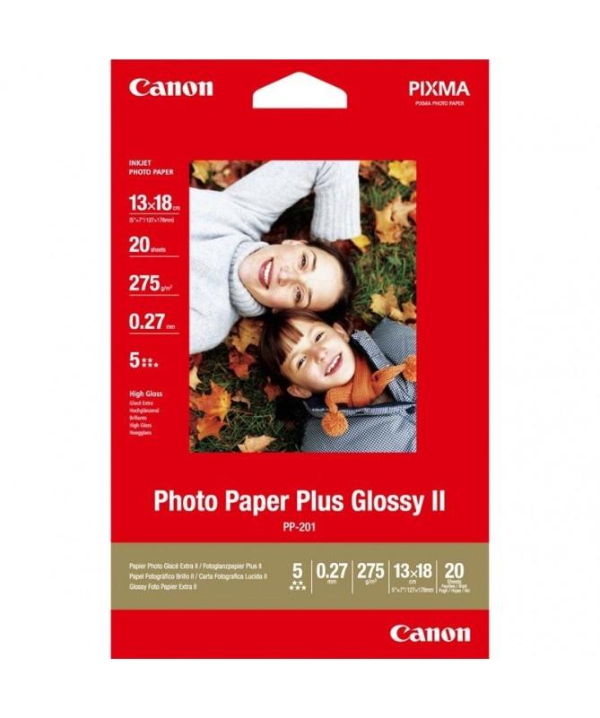 pulliPapel fotografico Brillo II Plus Canon PP 201 liliDimensiones 13 x 18 cm lili20 hojas lili275 gr m2 li ulbr p