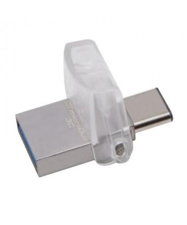 DataTraveler microDuo 3C tiene una interfaz doble que funciona tanto con los puertos USB estandares como con los de USB Type C