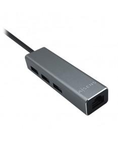 pAISENS CONVERSOR USB 30 A ETHERNET GIGABIT 10 100 1000 MBPS HUB 3XUSB30 GRIS 15CMbrP N A106 0401brEAN 8436574704105brul liLa s
