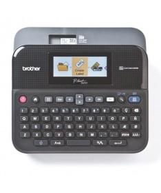 pRotuladora de sobremesa con teclado QWERTY pantalla LCD a color y reconocimiento de color de cinta permite crear etiquetas mas