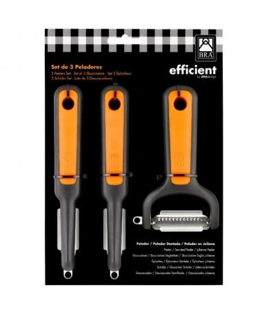 pul liLos peladores Efficient han sido fabricados en acero inoxidable y materiales de alta calidad para ofrecer un corte perfec