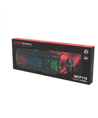 pDisfruta de una increible iluminacion RGB para tu escritorio El MCP118 te ofrece una genial combinacion de teclado raton y alf