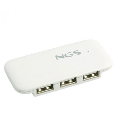 Multiplique las conexiones de su ordenador con este practico hub USB20 de NGS Por su reducido tamano y extraordinaria ligereza