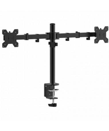 pSoporte con dos brazos articulados de montaje en mesa para doble monitor de 10 a 278221 max 10KgbrEste soporte de mesa le perm