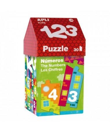 pul liPuzle para que los mas pequenos empiecen a familiarizarse con los numeros y las series numericas Las piezas de este puzle