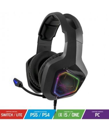 pulliUso Gaming liliConector 35 mm liliSistema arco microfono liliStereo 20 liliPlataformas compatibles PC PS4 Xbox ONE liliWin
