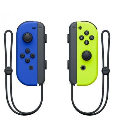 pul liSet compuesto por un mando Joy Con izquierda azul neon y un mando Joy Con derecha amarillo neon li liEl diseno incluye la