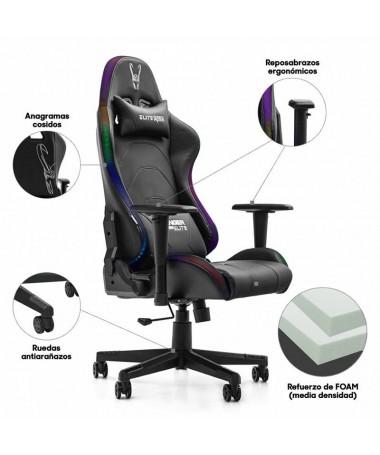 pSilla gaming ergonomica con iluminacion Led configurable en color mediante APPbrUn Arco iris de ColorbrbrLa silla de diseno Ra