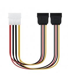 pul libEspecificacion b li liIdeal para convertir un conector Molex 4 pin a dos conectores sata alimentacion li liLongitud 02 m