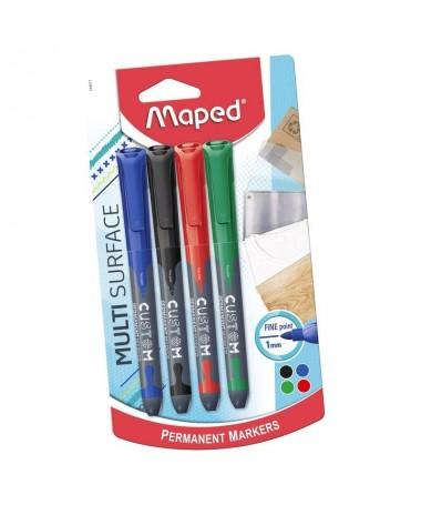 pul liRotuladores de alta calidad li liRotuladores permanentes li li4 colores Rojo verde azul y negrro li liPunta fina redonda