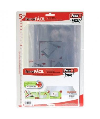pul liEl ForraFacil ahora en paquetes de 5 unidades li liForro de PVC transparente sin adhesivo li liCon solapa ajustable a dif