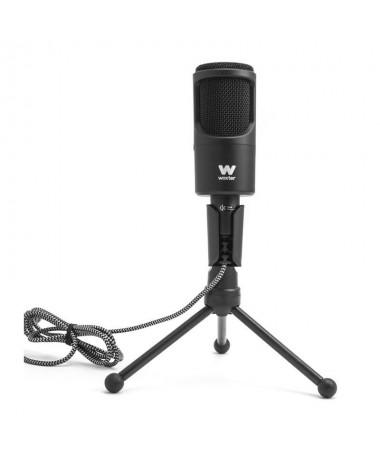 pWoxter Mic Studio 50 es un microfono de condensador ideal para grabar conversar o cantar por internet para jugar online o para