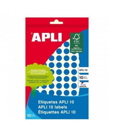 pul liEtiquetas circulares azul 8 hojas li liMedidas o 10mm li liCantidad 1008 li liColor Azul liliForma Circular li liTipo de