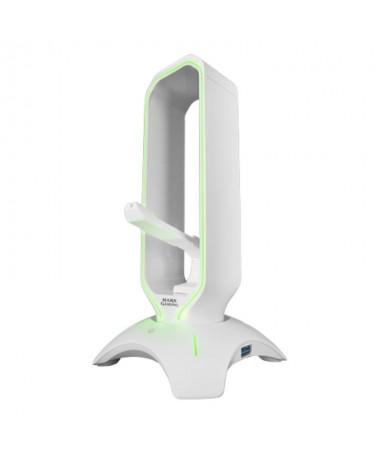 ppEl MHHPRO es el soporte definitivo para auriculares gaming con sistema 3 en 1 soporte para cascos bungee para raton y HUB con