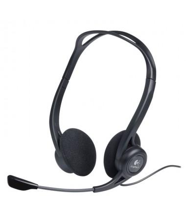 pCon un diseno ligero ajustable y flexible con sujecion sobre la cabeza este casco telefonico USB permite hablar y escuchar a g