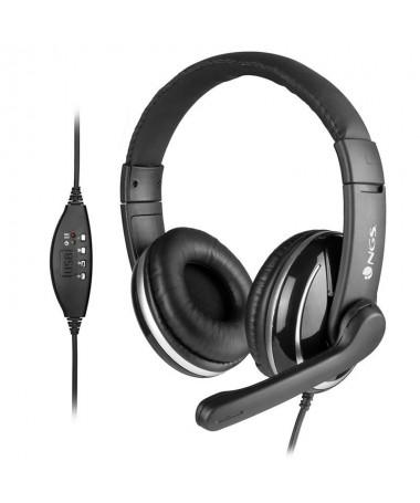 ph2AURICULAR DE DIADEMA CON CONEXION USB PARA PC CON MICRoFONO AJUSTABLE REGULADOR VOLUMEN h2ul liNGS Vox800 USB auricular este