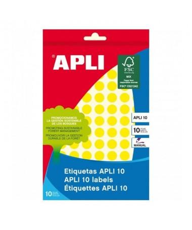 pul liEtiquetas circulares amarillas 8 hojas li liMedidas o 10mm li liCantidad 1008 li liColor Amarillo li liForma Circular li