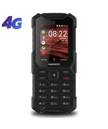 ph2HAMMER 5 Smart h2Es un telefono clasico y unico de 24 pulgadas que gracias al sistema KaiOs ofrece LTE GPS y las aplicacione