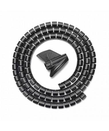 pul liOrganizador de cables en espiral con capacidad de hasta 25mm de diametro li liFabricado en plastico de alta resistencia y