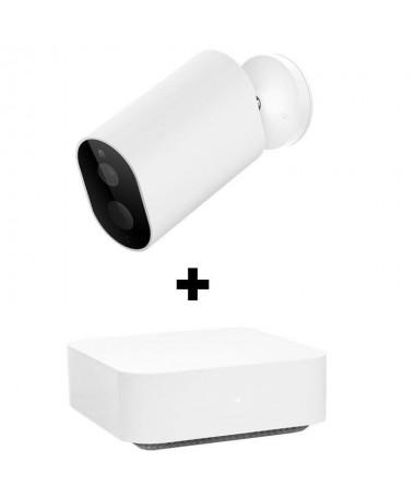 ppCamara para interior y exterior Puerta de enlace incluida Resolucion Full HD Vision nocturna Aplicacion Home Detector de movi