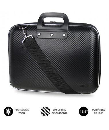 pEl maletin para ordenadores portatiles Subblim EVA Laptop Bag Carbon presenta un diseno elegante y ligero fabricado con espuma