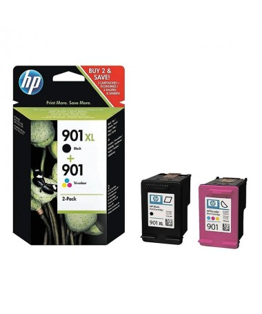 PPULLIMultipack  Cartuchos Hp 901 XL Negro 700 pag aprox  Nº901 Tricolor 360 pag aproxbr LILICompatible Con Officejet 4500 J45