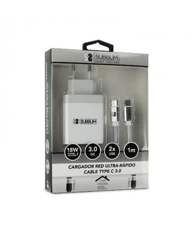 ph2Smart charger PD18W24A C to C cable Blanco h2brul libCARGADOR b li liCargador para red domestica de carga Ultra rapida hasta