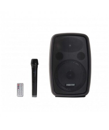 pAmplificador portatilbrMicrofono inalambrico de mano UHF 525 85 MHzbrBluetooth reproductor USB MicroSD MP3 y sintonizador digi