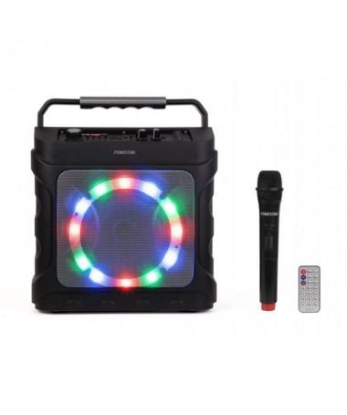 pAltavoz portatil con reproductor bluetooth USB microSD MP3 y microfono inalambrico VHF 1885 MHzbrFuncion karaoke control de vo